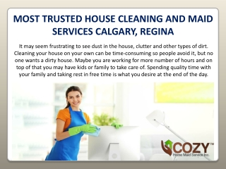 House Cleaning Service in Calgary