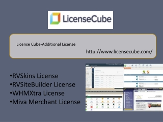 License Cube-Additional License