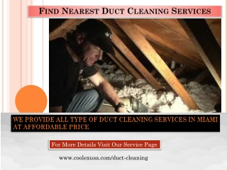 Find Nearest Duct Cleaning Services