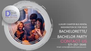 Luxury Charter Bus Rental Washington DC for Your Bachelorette/Bachelor Party