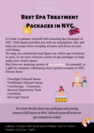 Best Spa Treatment Packages in NYC
