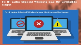 Fix HP Laptop Stilgelegd Willekeurig Issue Met Gemakkelijke Stappen