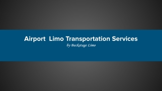 Orlando Airport Limo Services