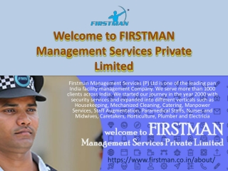 Welcome to FIRSTMAN Management Services Private Limited
