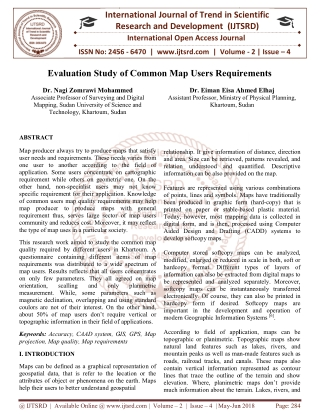 Evaluation Study of Common Map Users Requirements