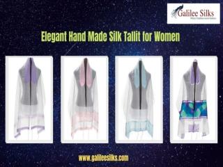 Elegant Hand Made Silk Tallit for Women