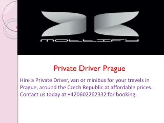 Private Driver Prague