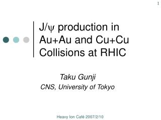 J/ y  production in Au+Au and Cu+Cu Collisions at RHIC
