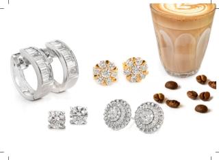 Diamond cluster stud earrings - medium