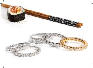 Full set 4 claw diamond eternity ring