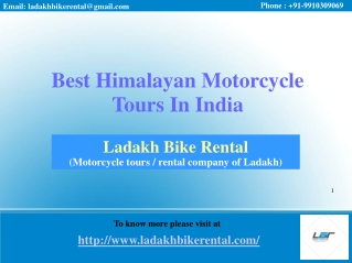 Best Himalayan Motorcycle Tours In India