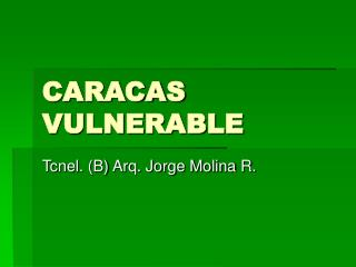 CARACAS VULNERABLE