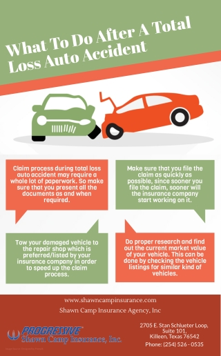 What To Do After A Total Loss Auto Accident