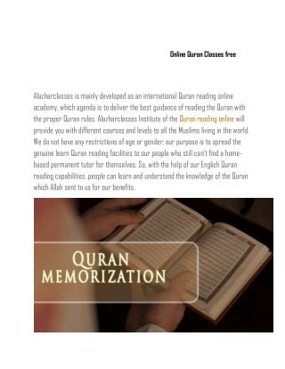 Online Quran Classes free
