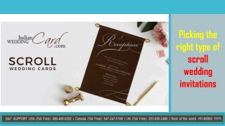 Picking the right type of scroll wedding invitations