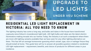 RESIDENTIAL LED LIGHT REPLACEMENT IN VICTORIA: ALL YOU NEED TO KNOW