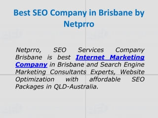 Internet Marketing Company | Netprro