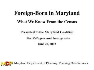 Foreign-Born in Maryland