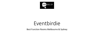 Function Room HireMelbourne