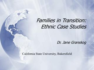 Families in Transition:   Ethnic Case Studies