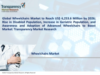 Global Wheelchairs Market to Gain a Value of US$ 6,253.6 Mn by 2026 - TMR