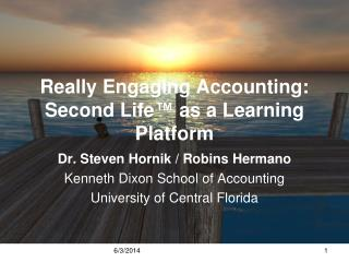 Really Engaging Accounting: Second Life  as a Learning Platform
