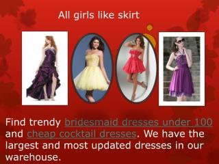 All girls like skirt