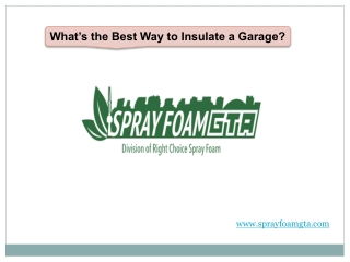 What's the Best Way to Insulate a Garage?