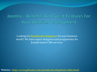 Joomla – Benefits And Great Features For Your Webs