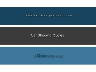 AutoTransportDepot.Com - How to save money on your car shipp