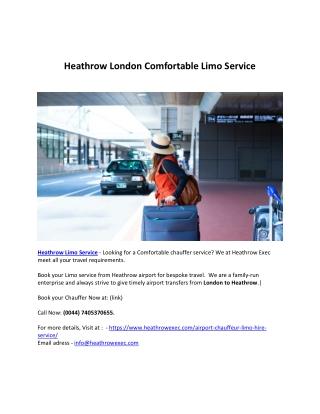 Heathrow Airport limo service