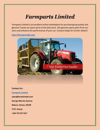 Buy Top Quality Massey Ferguson Spare Parts Online