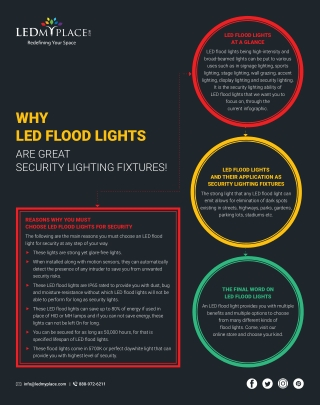 Why Should You Choose LED Flood Light For Outdoor Areas