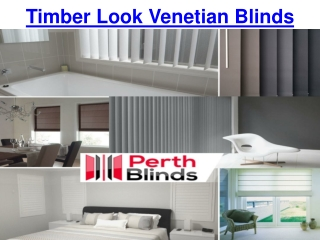 Timber Look Venetian Blinds