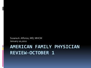 American Family  Physician Review-October 1