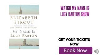 My Name Is Lucy Barton Tickets Cheap