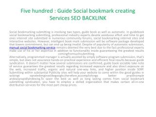 Manual social bookmarking service