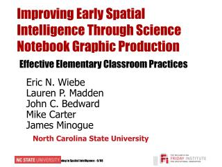 Improving Early Spatial Intelligence Through Science Notebook Graphic Production Effective Elementary Classroom Practice
