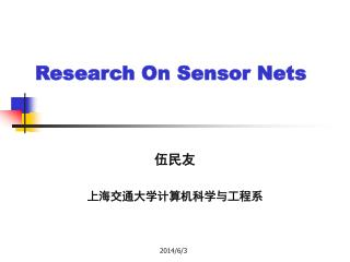 Research On Sensor Nets