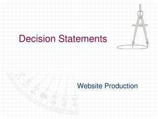 Decision Statements