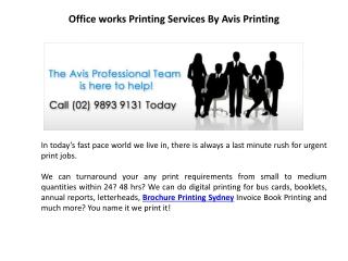 Brochure Printing Sydney