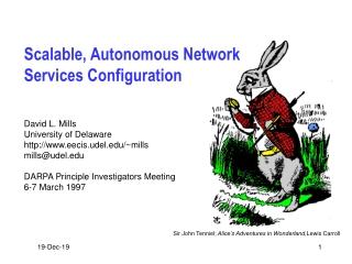 Scalable, Autonomous Network Services Configuration