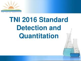 TNI 2016 Standard Detection and Quantitation