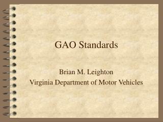 GAO Standards