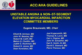 UNSTABLE ANGINA & NON–ST-SEGMENT  ELEVATION MYOCARDIAL INFARCTION COMMITTEE MEMBERS