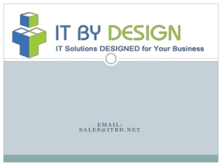 Web development and design service with itbd.net