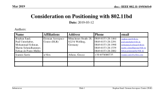 Consideration on Positioning with 802.11bd