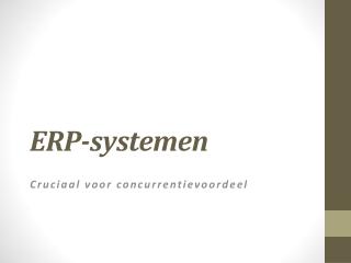 ERP-Systemen