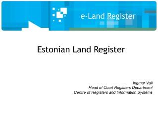 e-Land Register