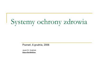 Systemy ochrony zdrowia
